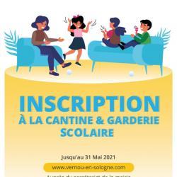 Inscription cantine scolaire 2021-2022