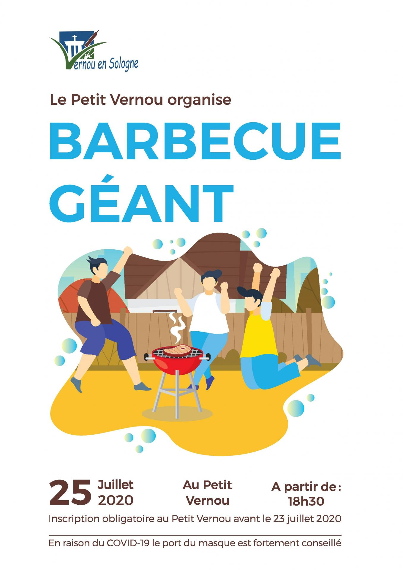 Affiche barbecue geant