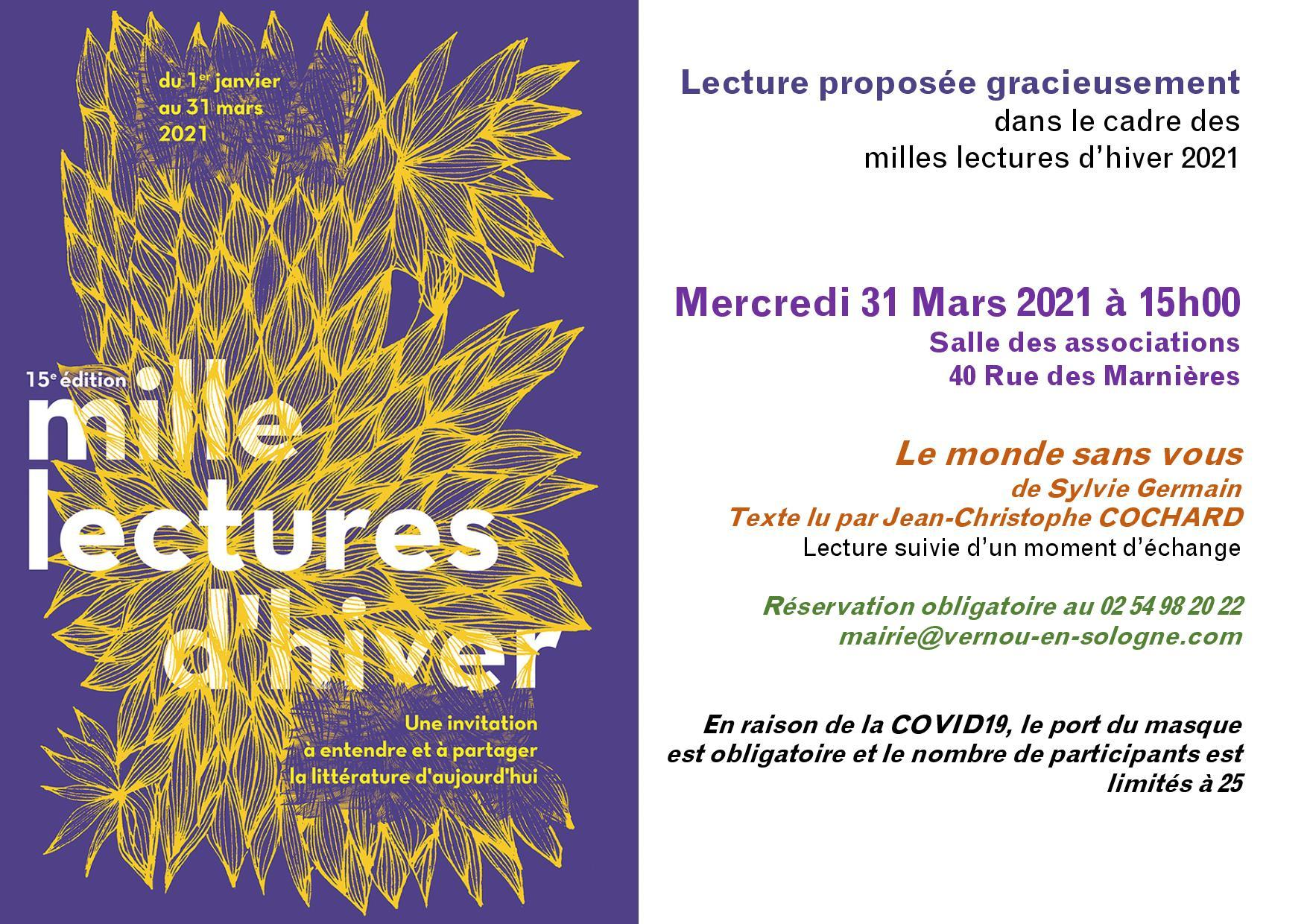 Mille Lectures d'hiver 2021
